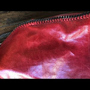 Handbags - Red leather and chain bag. Similar to a Stella.